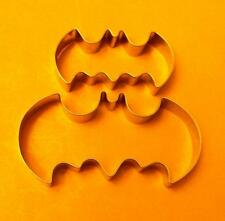 2 size Batman Cookie Cutter Baking Fondant Pastry Biscuit Stainless Steel set