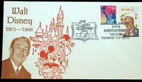 Walt Disney 1968 USPS 6c Stamp Disneyland Station 1998 Postmark 75th Anniversary