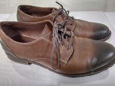 J & M Est 1850, Johnston Murphy Oxford Shoes, Brown Size 9.5 D two tone comfort