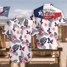 It's Not A Party Until A Texas Girl Walks In Flag Hibiscus Baseball Jersey