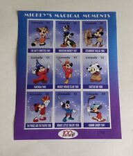 Mickey's Magical Moments- 9 Stamp Mint Sheet from Grenada