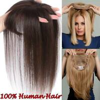 Topper Human Hair Clip With PU Silk base Toupee For Women 130% Volume Extension
