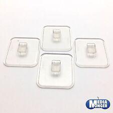 playmobil® 4 x Standplatte für Figuren | transparent | Standhilfe | Platte
