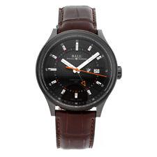 Ball Watch Company BMW Auto GMT DLC Steel Mens Strap Watch GM3010C-L1CJ-BK