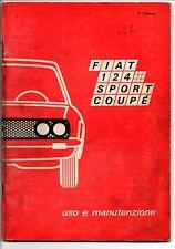 Libretto uso manutenzione Fiat 124 sport coupè 3/a edizione