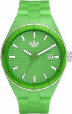 New Adidas Cambridge Green Rubber Band Date Dress Watch 44mm ADH2101 $75