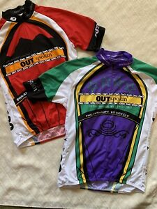 2 OUT Spoken' Benefit Cycling Team Jersey Size LGBT