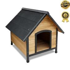 Pet TIMBER DOG KENNEL House Extra Large Wooden Log Cabin Wood Indoor Outdoor