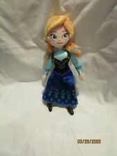 Anna soft,plush rag doll  Disney Frozen  9 inches tall