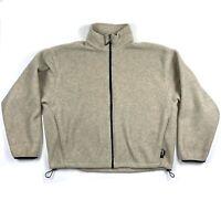 Vtg Woolrich Mens XL Full Zip Polartec Fleece Sweater Jacket Oatmeal Beige