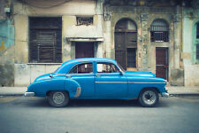 BEAUTIFUL CLASSIC CAR CANVAS PICTURE #53 STUNNING RETRO CARS IN CUBA A1 CANVAS