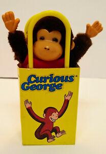 "Rare 1988 Vintage Curious George in Paper Bag Stuffed Plush Eden Toys Mini 6"""