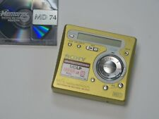 Sony MZ R700 Minidisc recorder/player yellow/green with used disc & remote
