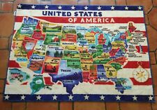 Smithsonian Rug United States Map Learning Carpets Bedding Play Mat Classroom
