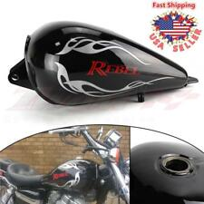 Motorcycle Black Flame 3.4 Gallons Fuel Gas Tank For Honda CMX250 Rebel CA 250