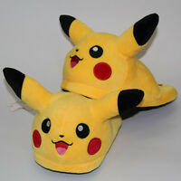 Anime Pokemon Pikachu Winter Slippers Soft Bottom Warm Plush Home Shoes Sandals