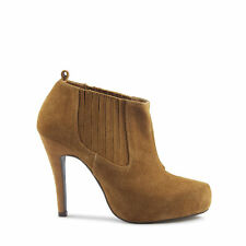 High (3 in. and Up) Heel Suede Pull On Solid Boots for Women