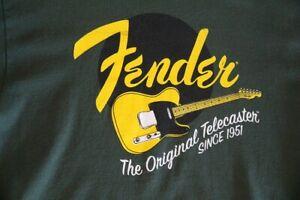 Fender Guitars Official Licensed shirt logo men's green size Large