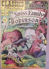 Classics Illustrated Swiss Family Robinson #42 (Hrn 75) G/Vg 3.0