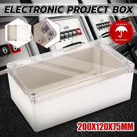 Waterproof Clear Electronic Project Box Enclosure Plastic Case 200*120*75mm #