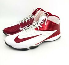 bf54237cd Mens Nike Vapor Pro 3 4 TD Nubby Turf Football Shoes Red   White Size
