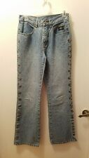 HARLEY DAVIDSON MOTORCYCLE WOMENS JEANS - LEG SNAPS - SIZE 2 Inseam 29 Inches