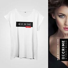 Kurzarm Damen-T-Shirts mit Motiv aus Viskose