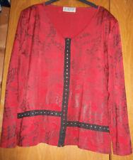 Haut rouge et noir - style bustier - Taille 3 (44/46) - TRES BON ETAT