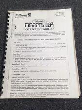 Williams Multi-Ball Firepower Pinball Instruction Booklet Manual