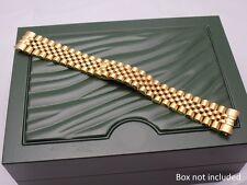 20mm Placcato Oro S / S GIUBILEO BRACCIALE CINTURINO PER ROLEX data solo 116233 UK STOCK
