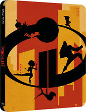 The Incredibles 2 (3D + 2D Blu-ray Steelbook) BRAND NEW