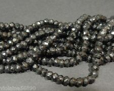 LOT 30 PERLES PIERRE NATURELLE FACETTE INDE 3 mm BLACK SPINEL NATURAL STONE BEAD