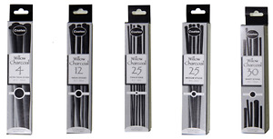 Coates Fine Art English Willow Charcoal Sets in Assorted Lengths & Thicknesses
