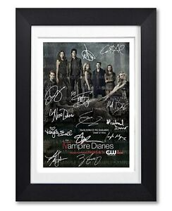 VAMPIRE DIARIES CAST SIGNED POSTER SHOW SERIES SEASON PRINT PHOTO AUTOGRAPH GIFT
