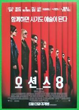 Ocean's 8 2018 Korean Mini Movie Posters Movie Flyers (A4 size)