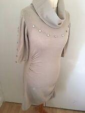 Karen Millen Stone Camel Stud Knit Dress UK 14 KM 4