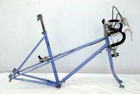 Zebra Kenko Mixte Vintage Touring Road Bike Frame 53cm Small Japan Steel Charity