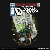 DOCTOR WHO Tardis 12th Time Lord Clara Oswald Limited Edition Mens T-Shirt M-2XL