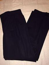 Ermenegildo Zegna Su Misura Men's Pleated Front Dress Pants Slacks 35x31 Navy