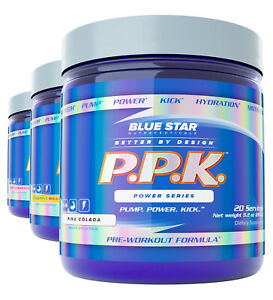 Blue Star PPK Power Pre Workout With Clinical doses of Creatine, Beta-Alanine