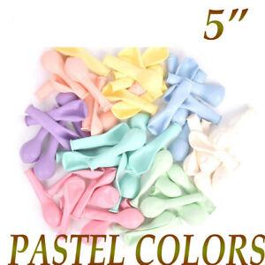 100pcs 5'' Pastel Latex Balloons Macaron Candy Mixed Colored Party Ballon UK