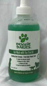 Pet Ear Drops Wash Cleaner Cleanser Tea Tree Oil & Aloe jb1