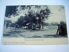 VERY OLD PPC: INDONESIA~JAVA~PASURUAN~WEG NAAR ARABISCHE KAMP~ANIMATED~UNDIVIDED