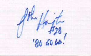 John Harrington - Miracle on Ice, U.S. Olympic Hockey Team - Signed 3x5 Card