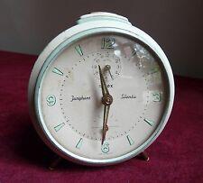 Vintage Junghans Bivox Silentic Enamel German Wind up Mechanical Alarm Clock