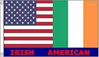 USA and Ireland Friendship Irish American Flag Polyester 3 x 5 Foot New Friend