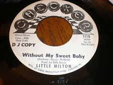 Little Milton 45 Without My Sweet Baby CHECKER DJ