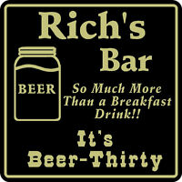 Personalized Beer Thirty Sign Bar Beer Pub Gift # 4 Custom USA Made