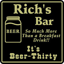 New Personalized Beer Thirty Sign Bar Beer Pub Gift Custom Name # 4