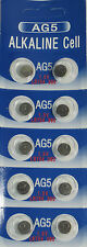 10 Pk AG5 LR754 393 309 193 LR48 D309 D393 Alkaline Button Cell Battery